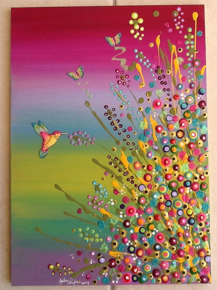 acryl dots punktmalerei pinterest malerei kunst und malen. Black Bedroom Furniture Sets. Home Design Ideas