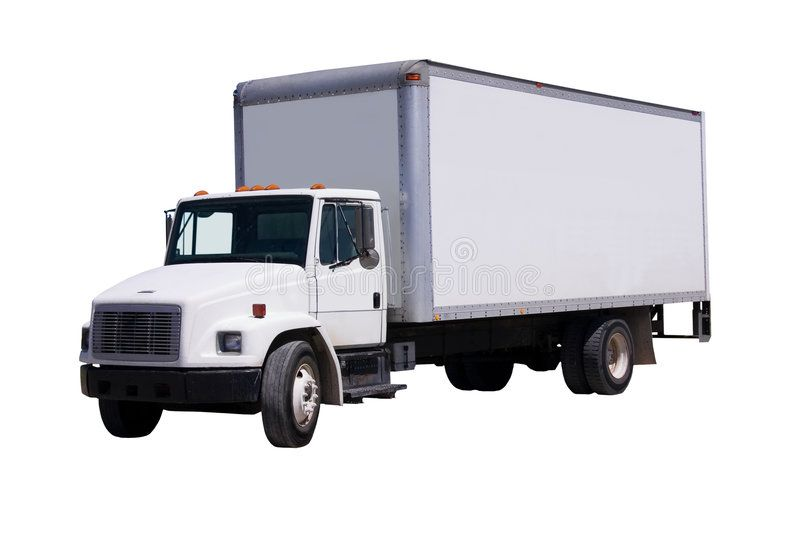 White Delivery Truck Isolated This Is A Picture Of A Typical Six