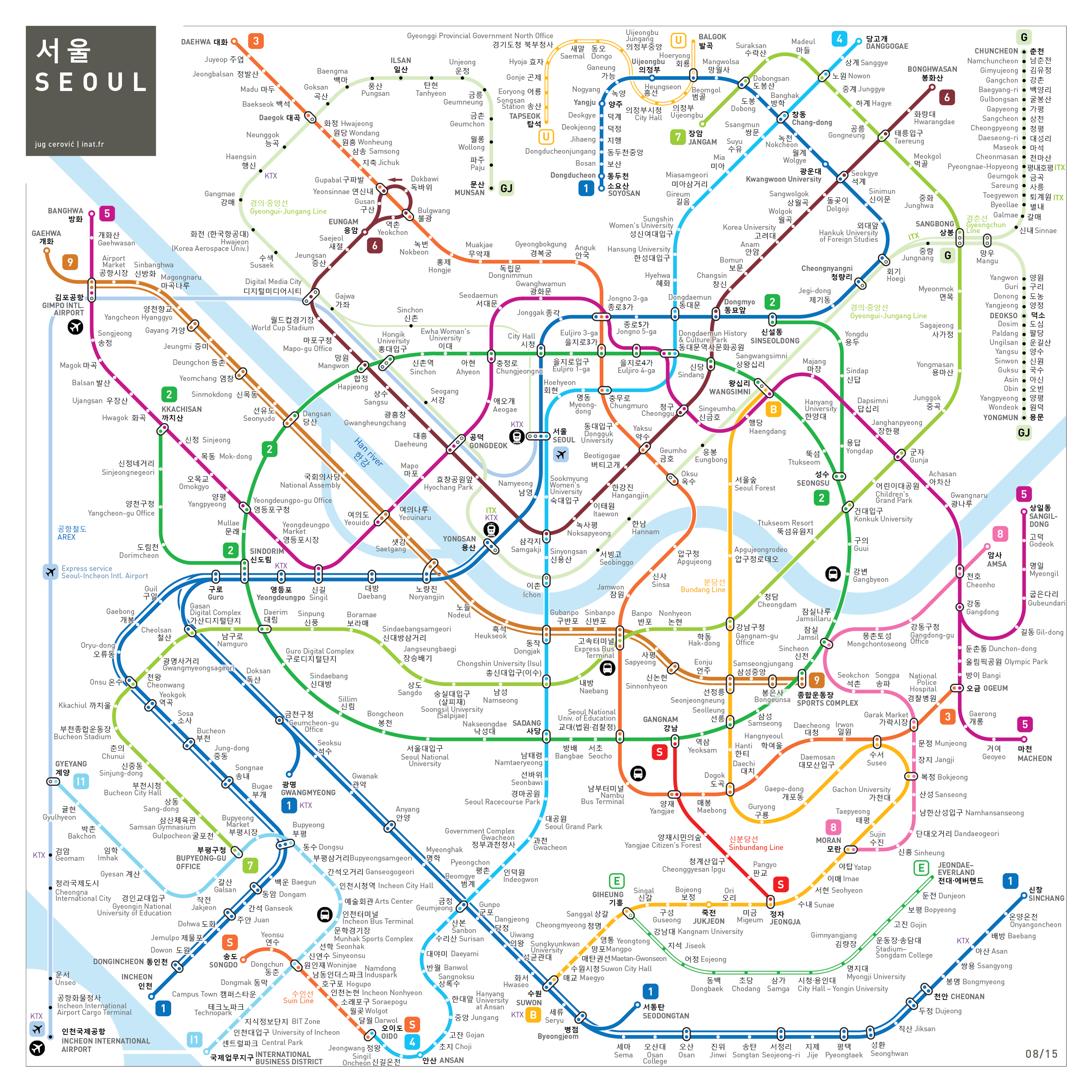 Pin by han gyeore on subway map pinterest korea seoul and inat is a mapping standard offering easy to read easy to memorize and easy to use subway network maps gumiabroncs Gallery