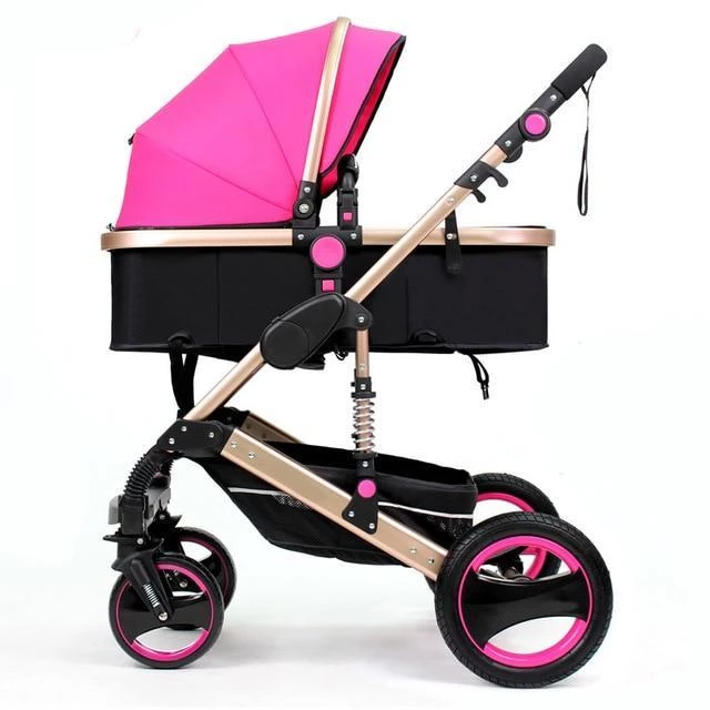 2 in 1 Baby Stroller Luxury Pram Carriage With Shocks