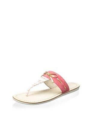 Elie Tahari Women's Nala Sandal (Coral/Gold)