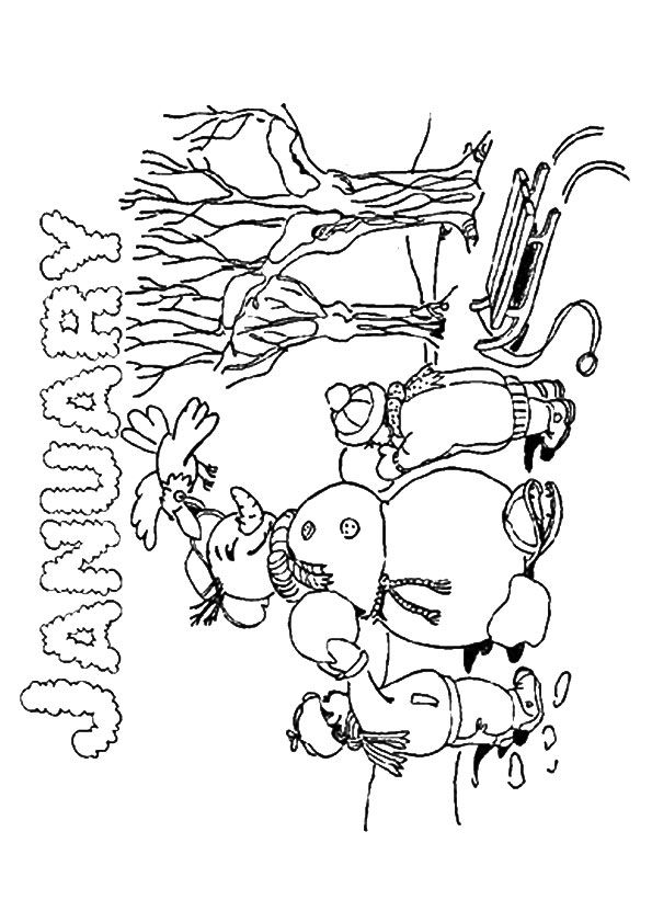 Print Coloring Image Momjunction Coloring Pages January Colors Coloring Pages For Kids