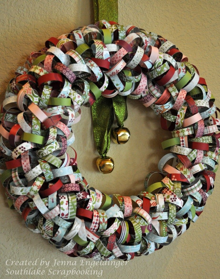 Accessories and furniture inspiring handmade paper crafts Christmas wreath decorations
