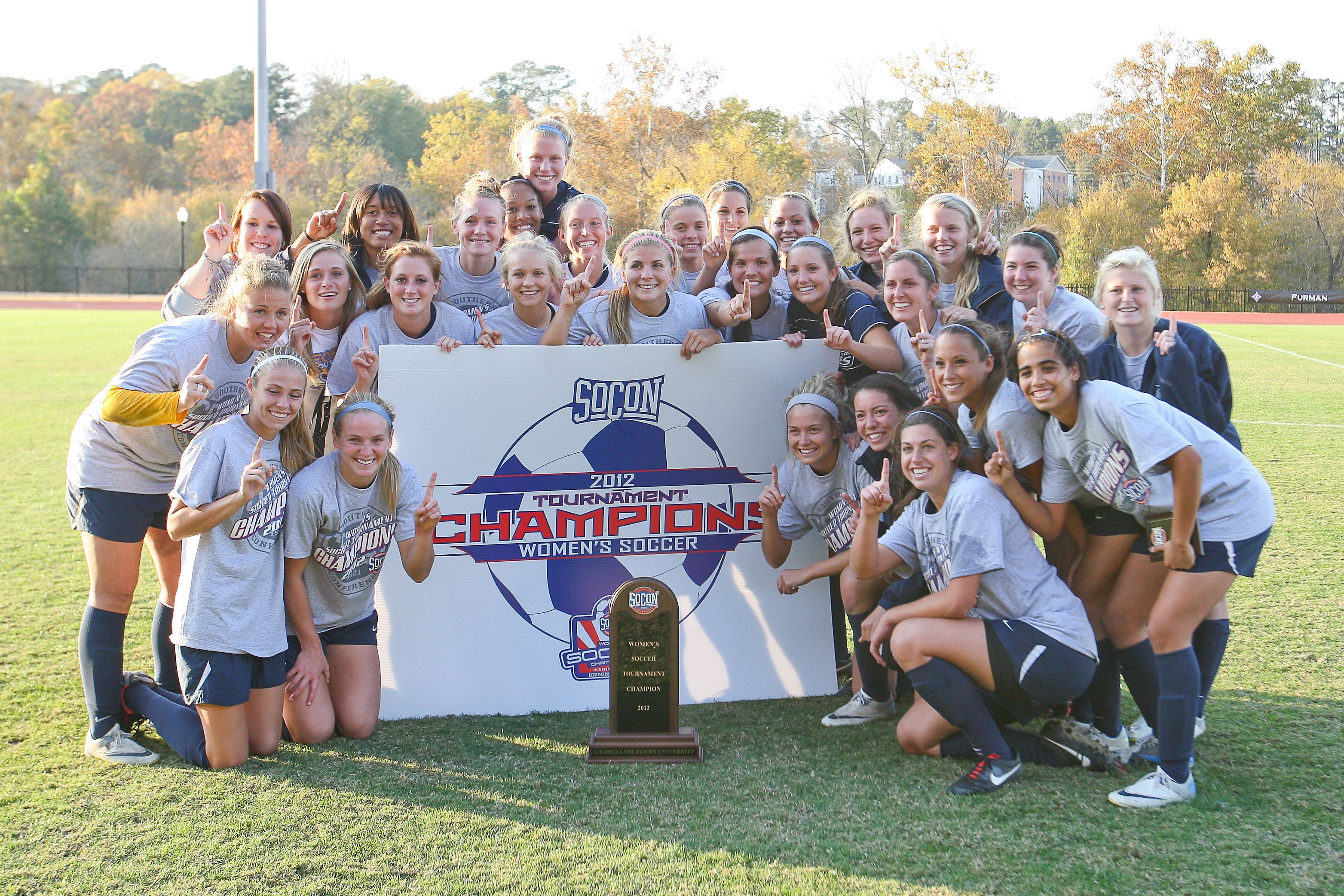 Georgia Southern Women S Soccer Brings Home Its First Ever Socon Title In 2012 Southern Women Womens Soccer Georgia Southern