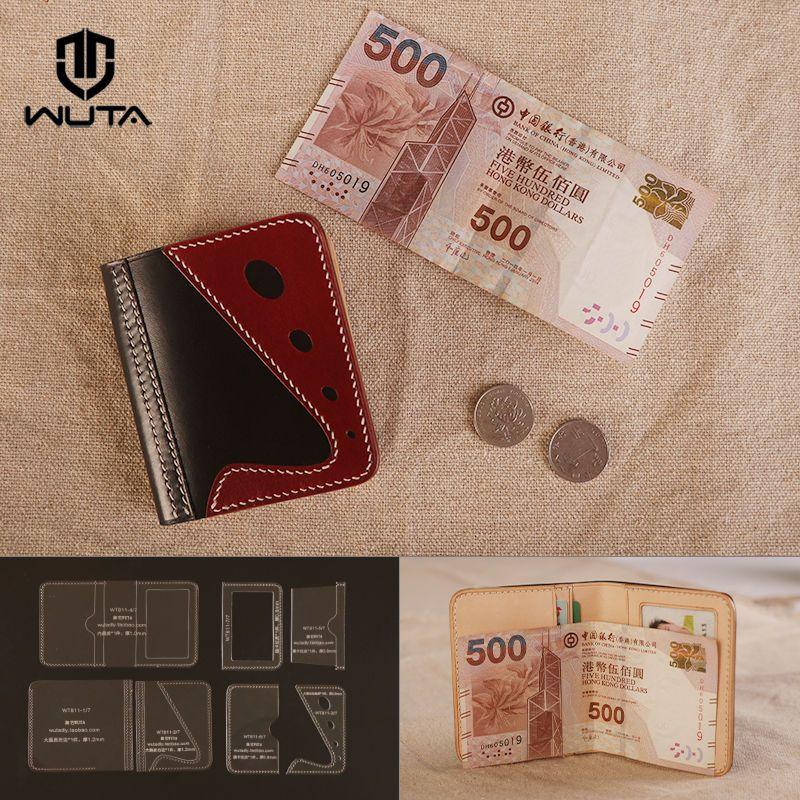 WUTA 5pcs Long Wallet Acrylic Leather Template Plastic Pattern Craft Tool 860