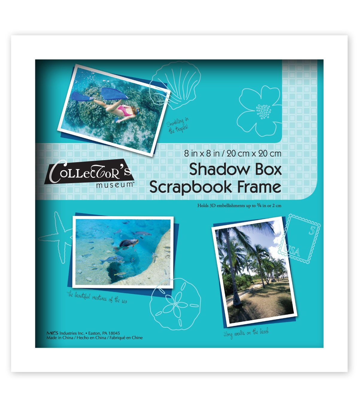 Mcs Industries Collector S Museum Shadow Box Scrapbook Frame 8 X8 Shadow Box Shadow Box Frames Box Frames