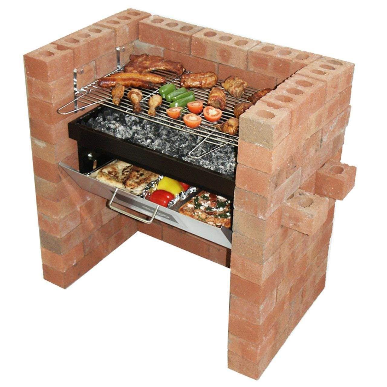 Diy Brick Bbq Grill Kit Stuff To Buy Brick Built Bbq