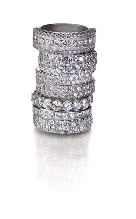 cubic zirconia wedding and eternity bands by my faux diamond My