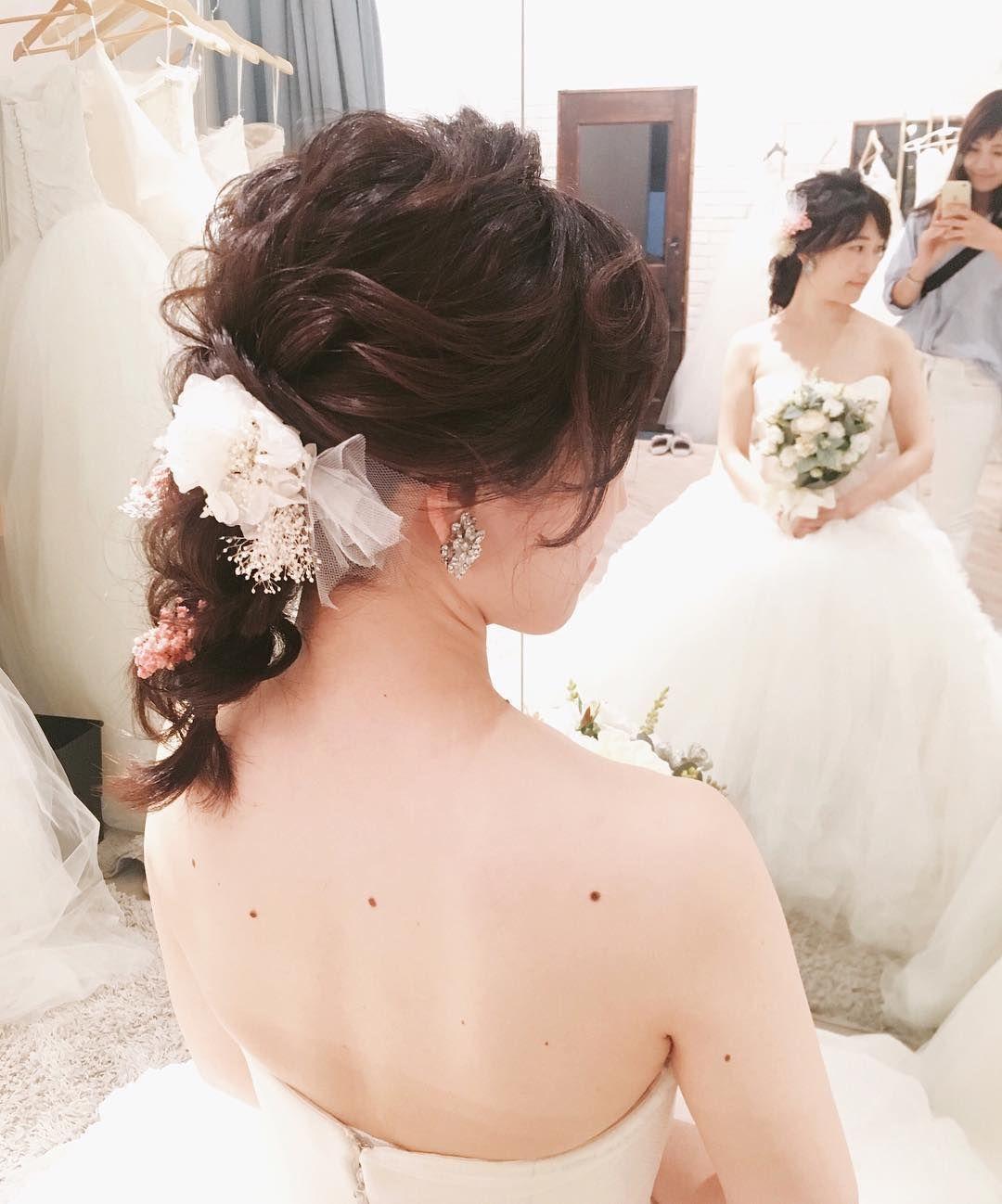 半年後に挙式の花嫁さま 当日は 編みおろし にされたいそうで