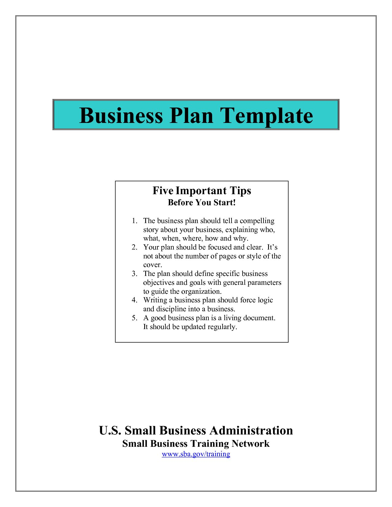 Business Plan Template For Free Restaurant Example Pdf