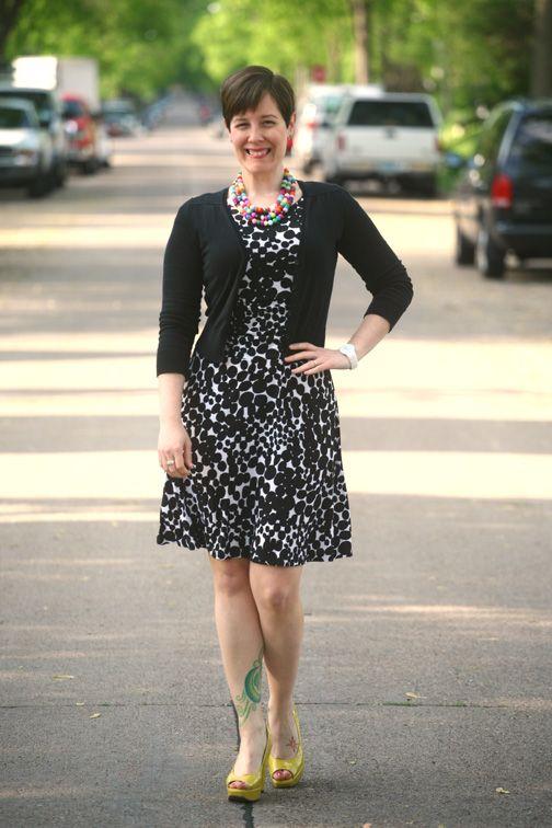 Dressed for: Colorful Brackets | Skagen, Black and Patterned dress