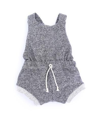 romper shortie in 'ash'  #childhoodsclothing