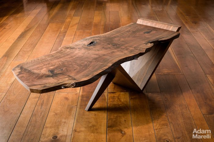 the natural edge designs made famousgeorge nakashima. © adam