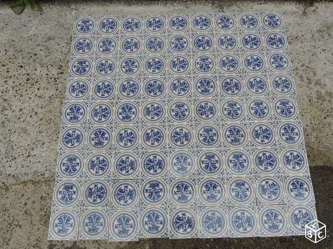 Carreaux Faience De Gien Motifs Bleu 10 9 X10 9 Cm Motifs Bleus Carreau Faience