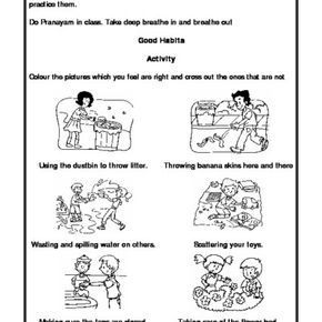 Worksheet of Good Habits-Good Habits-Habits and Hygiene