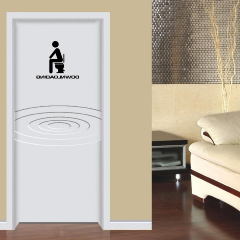 Bathroom Door White Black Funny Signs For Home On Wooden In Ideas