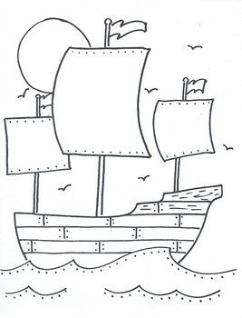 Mayflower Free Thanksgiving Coloring Pages Thanksgiving Coloring Pages May Flowers