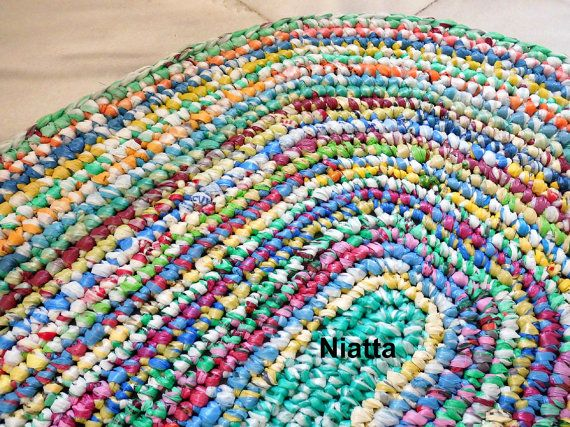 Crochet Plastic Bag Rug Rugs Ideas