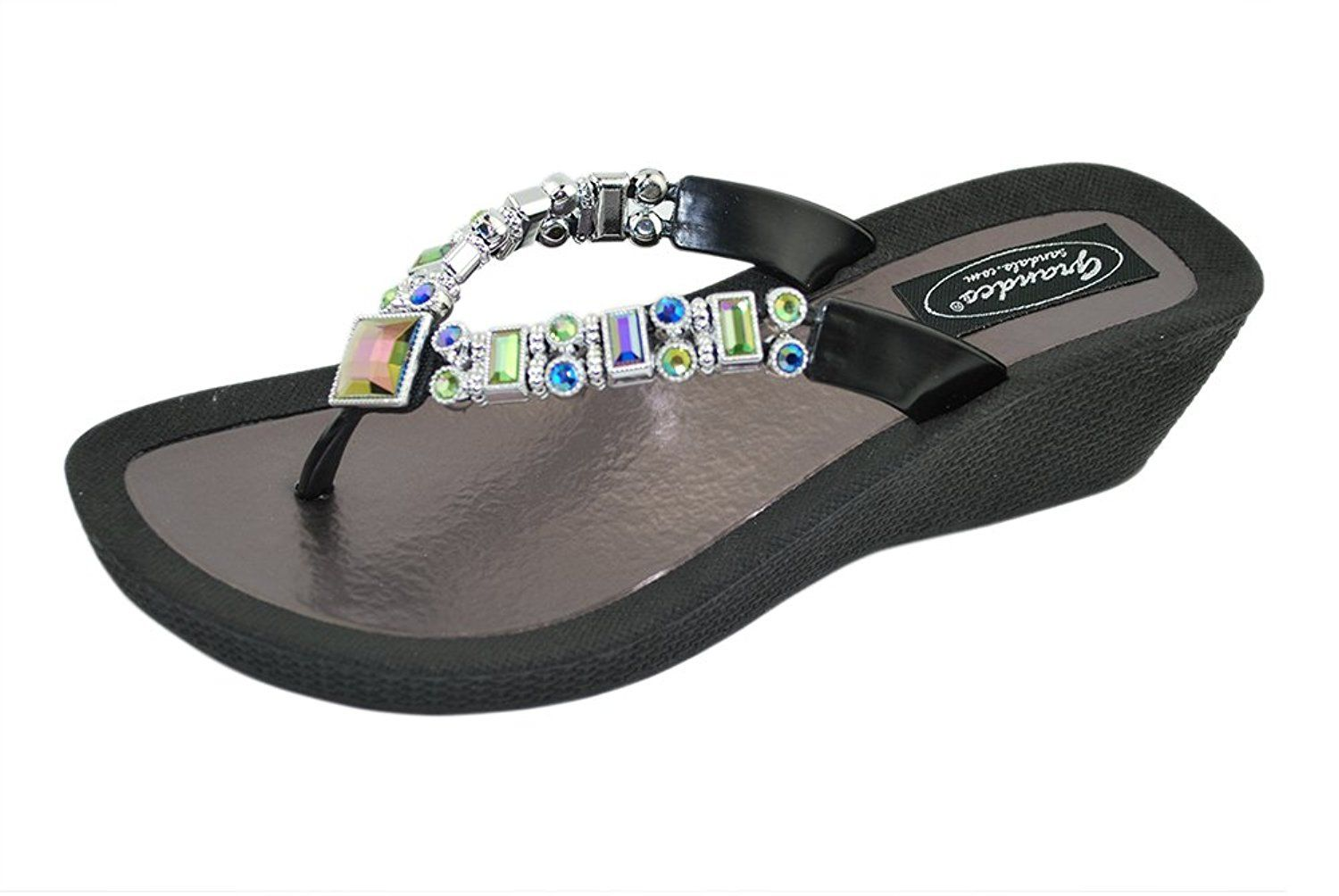 01dfb57f4 Grandco Women s Lilly Wedge Thong Sandal -- You can get additional details  at the image link.