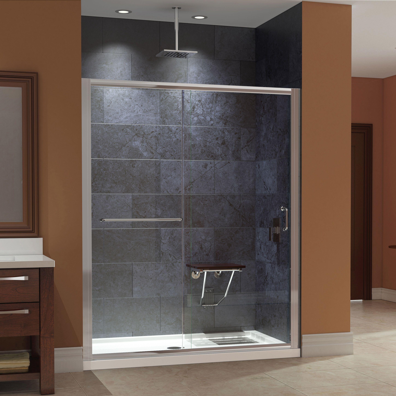 Dreamline Infinity Z 56 To 60 In W Shower Door Clear Glass With