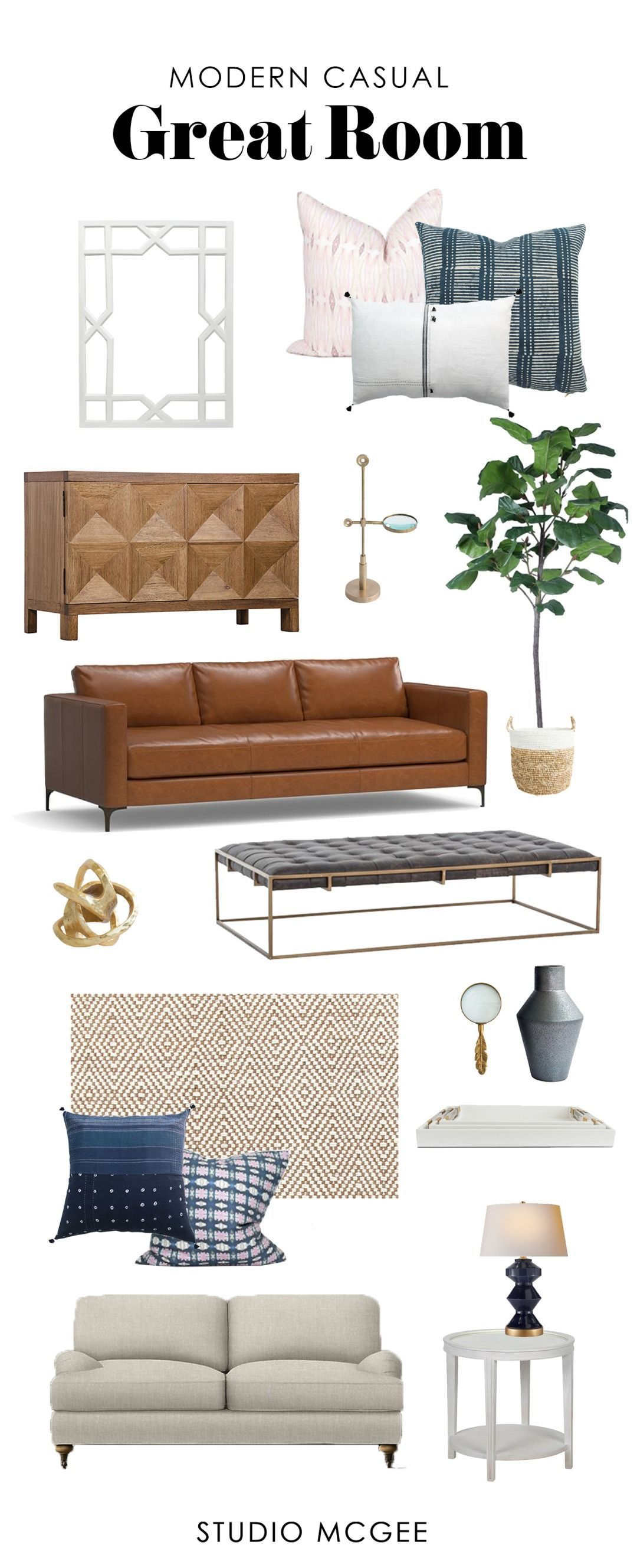 Get The Look Modern Casual Living Room  Studio Mcgee