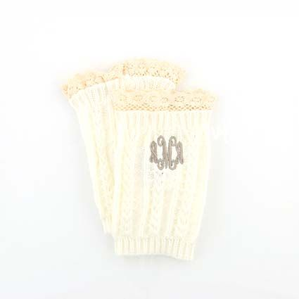 Personalized, Ivory Crochet Boot Cuffs $22  Monogram, Initials, Fall Fashion, Winter Fashion