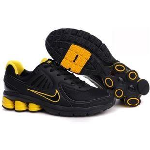 Parpadeo pimienta Rubí  442114 102 Nike Shox Qualify Black Yellow J07011 | Mens nike shox, Nike shox,  Nike shoes online