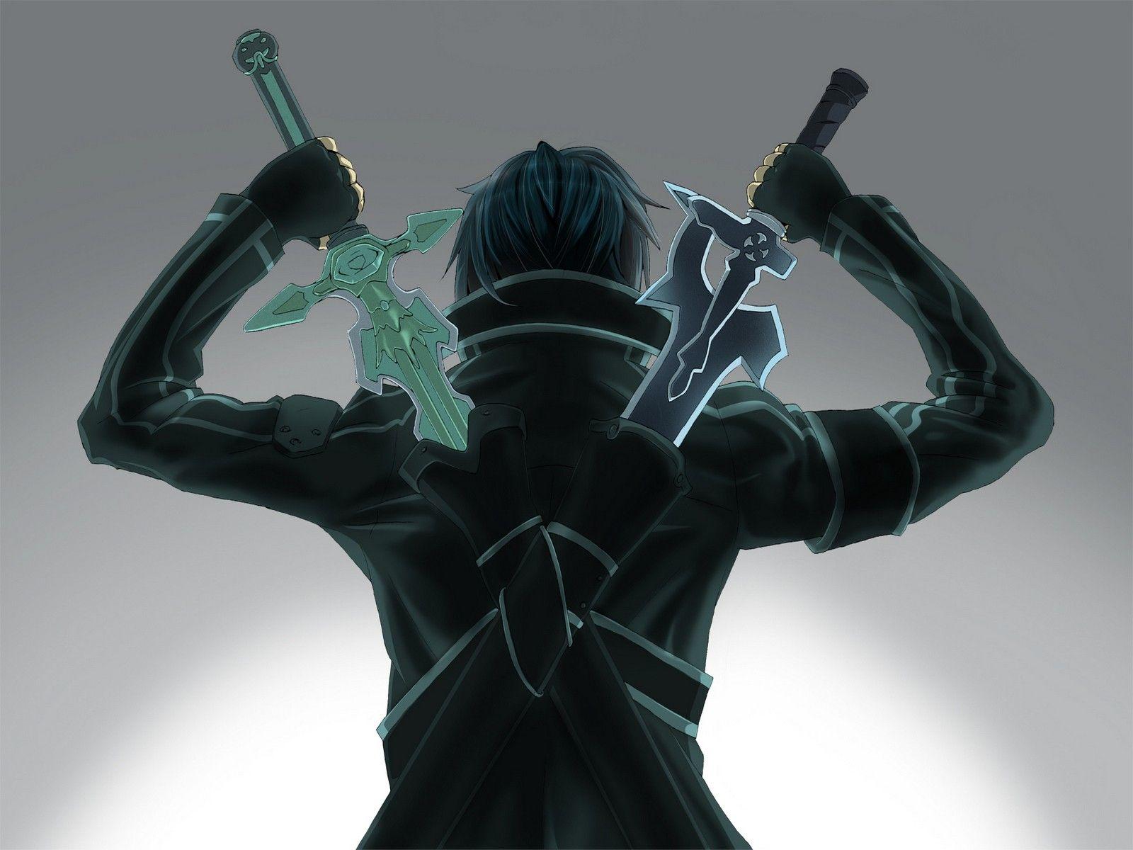 Fantasy Art Armor Anime Boy With Swords Kirigaya Kazuto