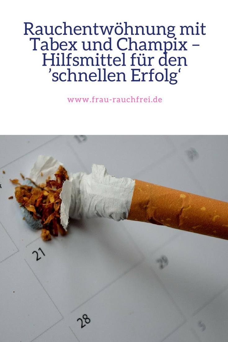 Rauchentwöhnung mit Tabex (Rauchen, aufhören)