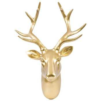 Gold Deer Head Wall Hanger With coupon $35.00 | My Room <3 ...