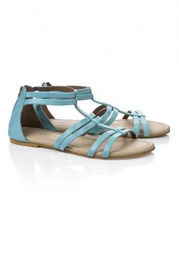 962629fcda68 PEONY STRAPPY LEATHER SANDALS Sky Blue. Tall Women s ClothesGladiator ...