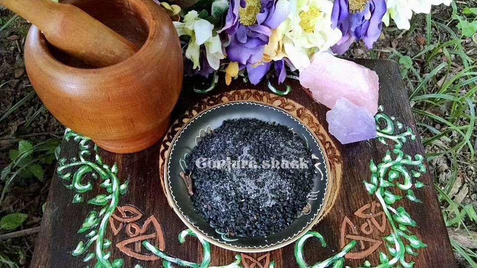 Black Witches Salt Ritually Created, Conjure, pagan ritual supply, new age, wicca by ConjureShack on Etsy