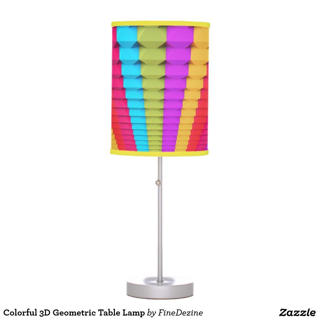 Colorful 3d Geometric Table Lamp Star Lamp Table Lamp Orange