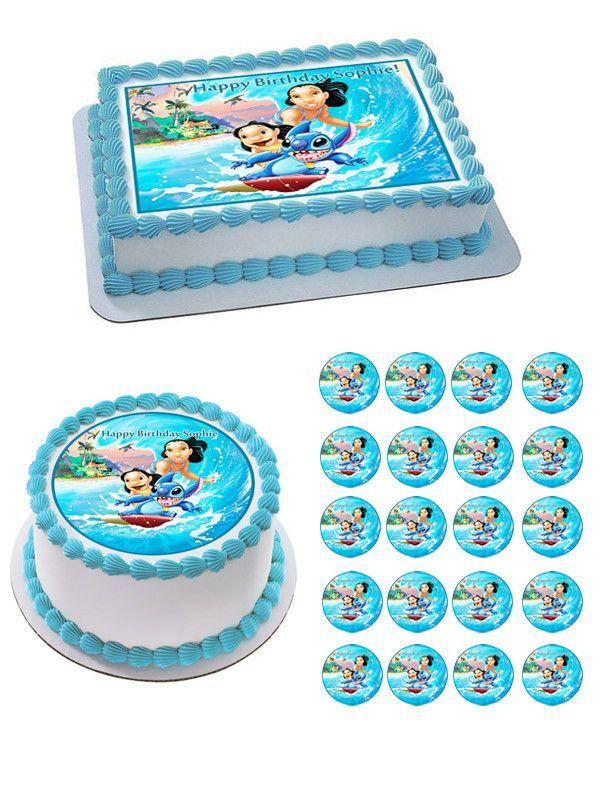 Lilo & Stitch Edible Birthday Cake Topper OR Cupcake ...