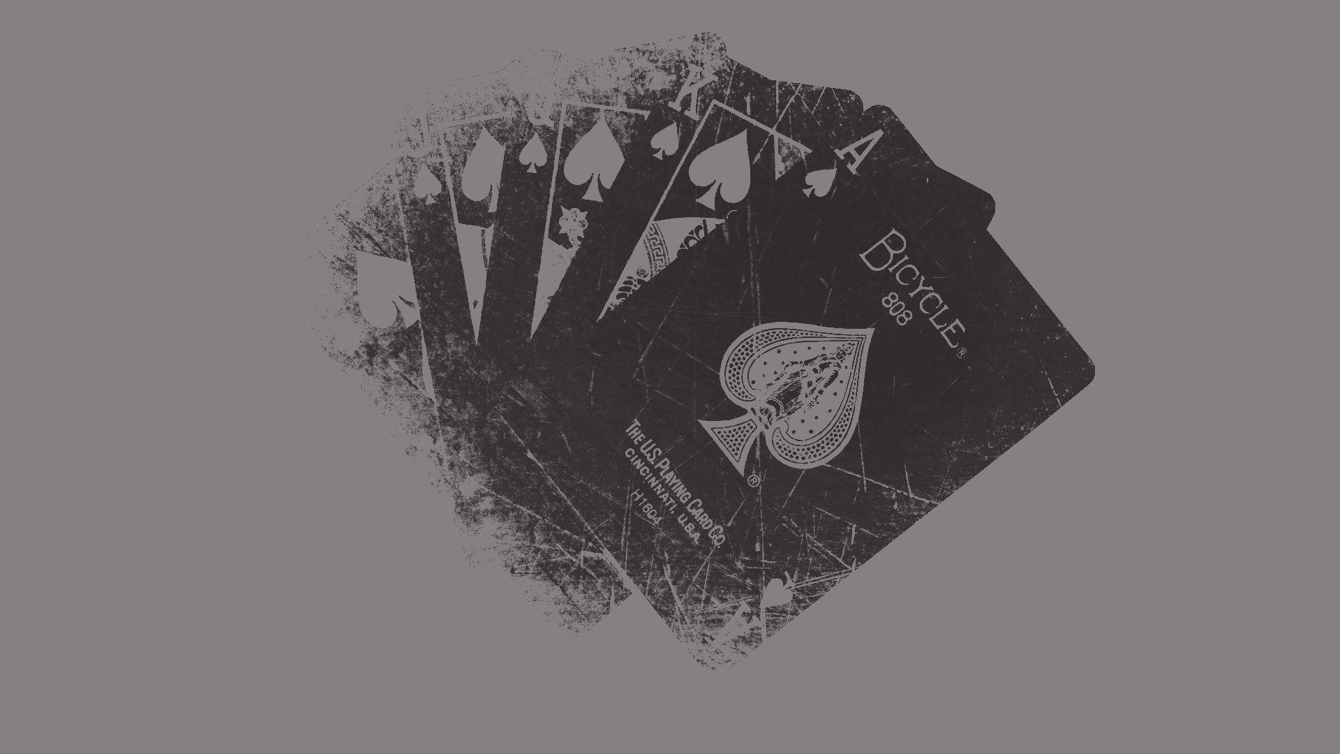 black grunge playing cards hd wallpaper background free