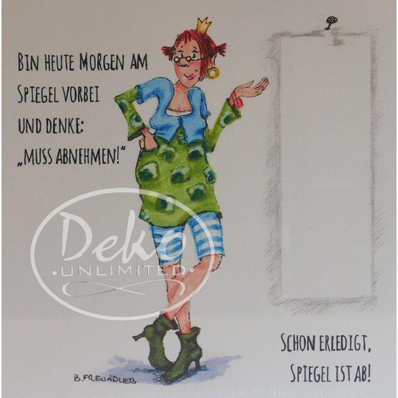 Holzbild – Barbara Freundlieb – MUSS ABNEHMEN – Deko Unlimited – Exklusive Gesch… – Sprüche