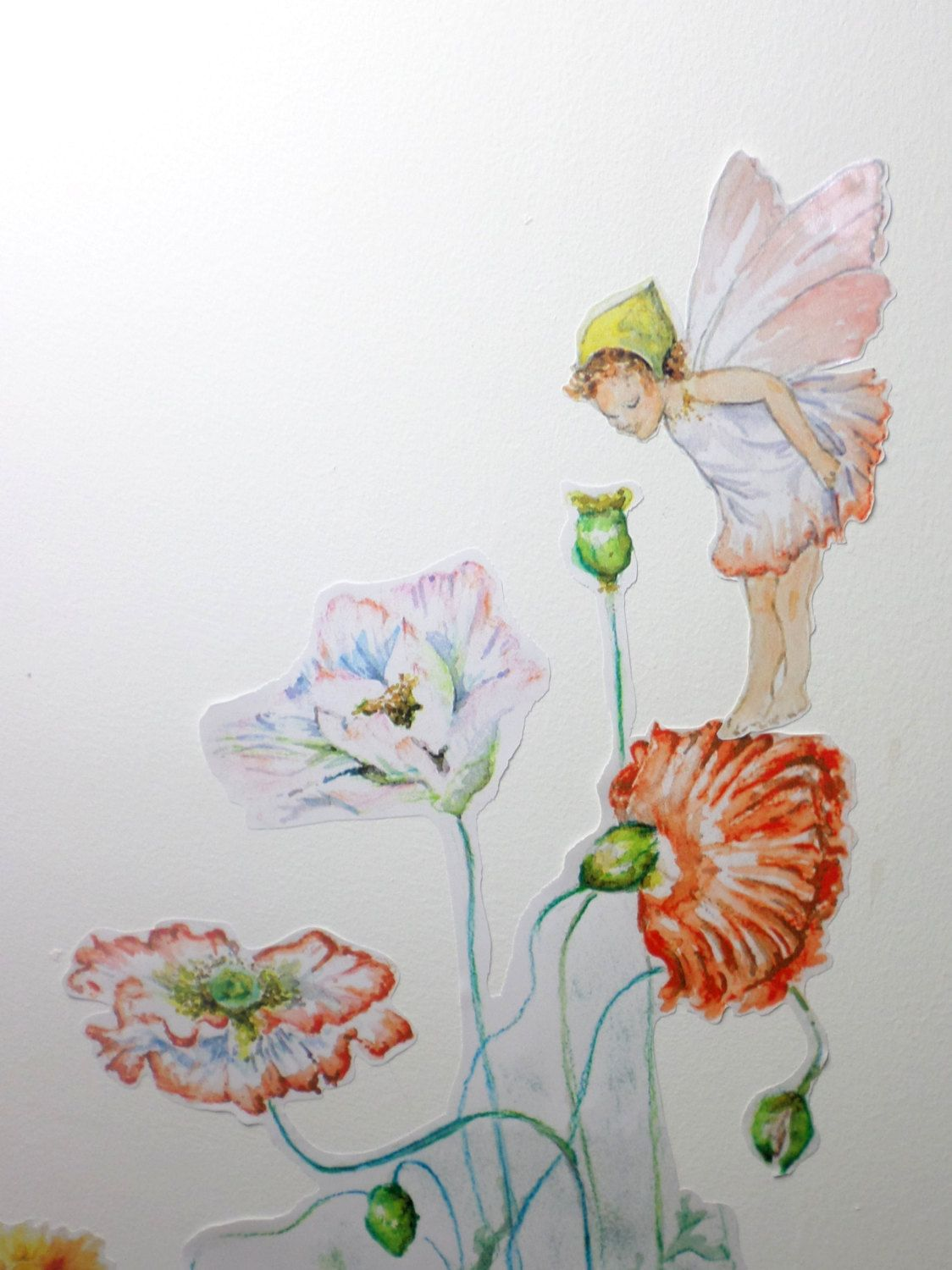 Flower Fairy Wall Decal Fairy Wall Stickers Girls Bedroom Decor