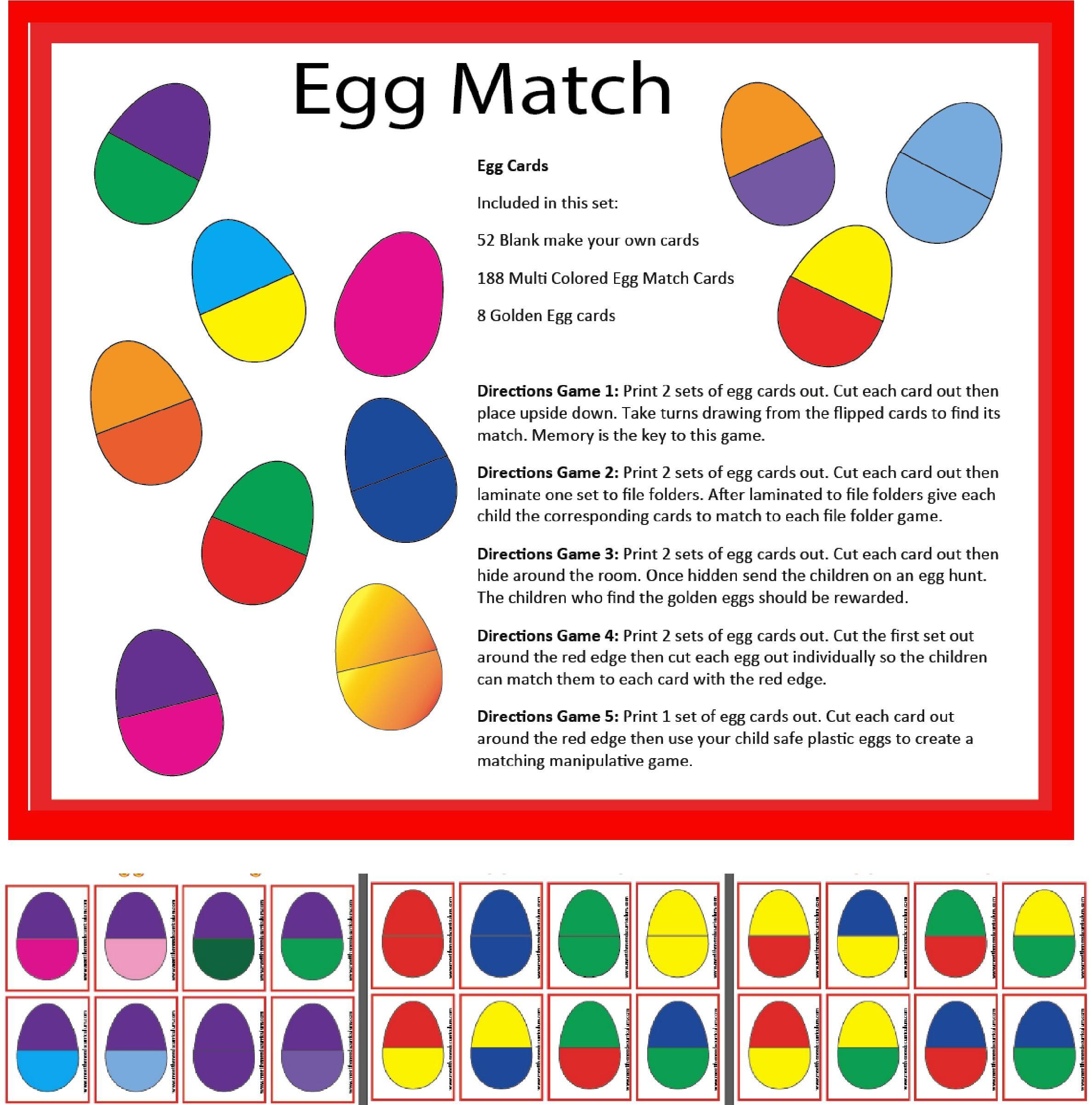 Eggs Card Activity