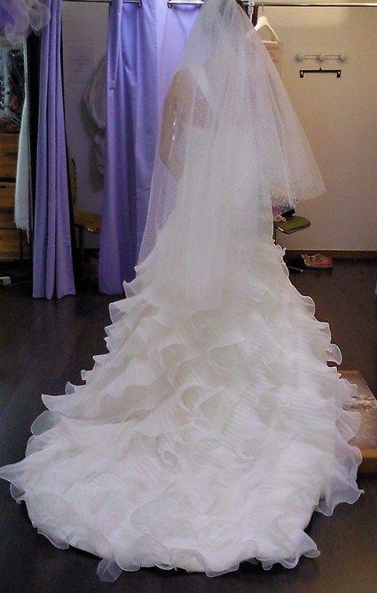 Robe de mariée SAN PATRICK modèle Caricia + voile + jupon