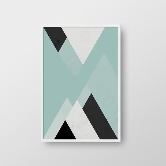 Scandinavian Poster Abstract Print Geometric Art Minimal Triangle Poster Modern Print Nordic Print Geometric Print Nordic Poster Geometric Art Abstract Abstract Print