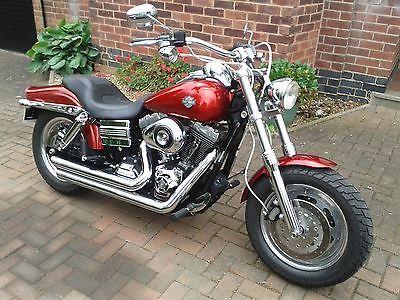 eBay: Harley Davidson dyna fatbob, candy red. NEW PHOTOS. no reserve