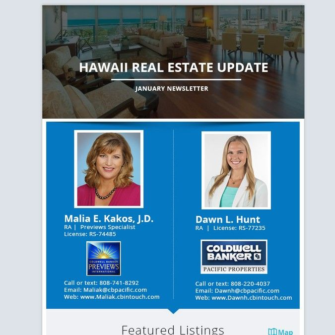 create a luxury real estate newsletter template for hawaii team by