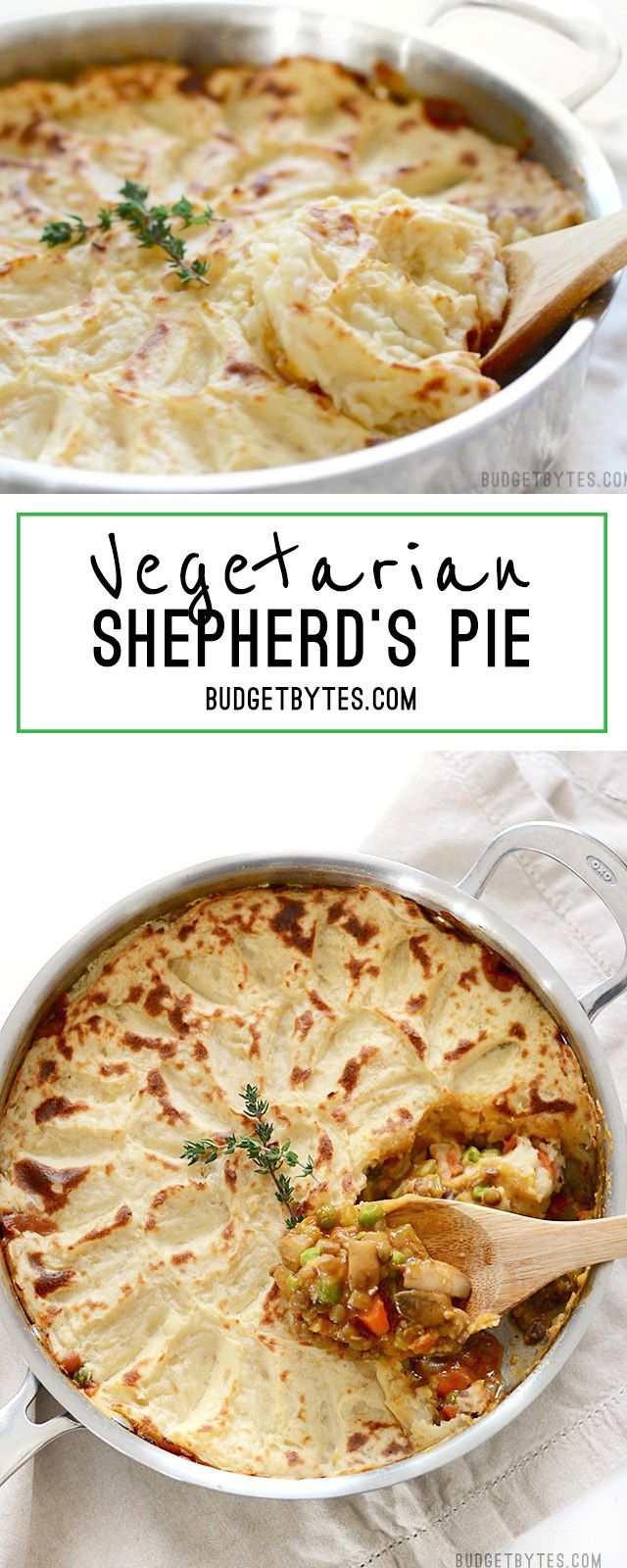 Vegetarian Shepherd S Pie Step By Step Photos Budget Bytes Recipe Recipes Vegetarian Vegan Recipes Vegetarian Recipes