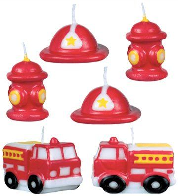 Fire Engine Fun Mini Cake Candles
