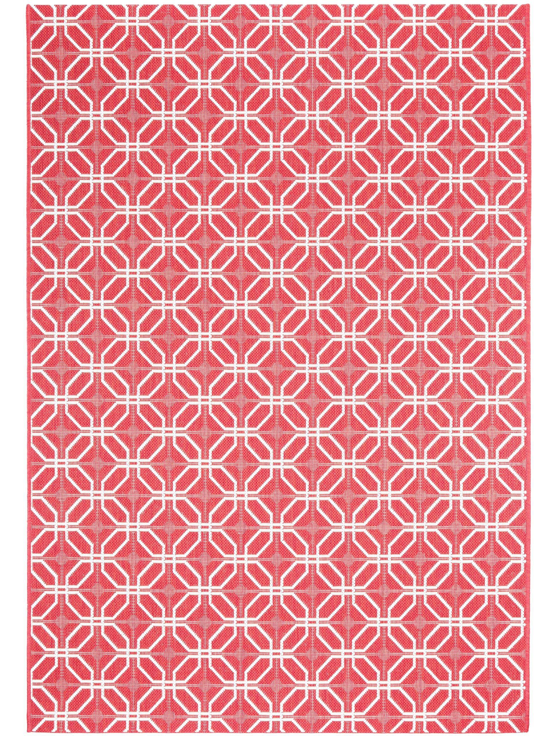 Kurzflor-kunststoff In- & Outdoor Teppich Flower Grau 167x250 Cm ... Ideen Fur Balkon Deko Boho Chic Personlichkeit