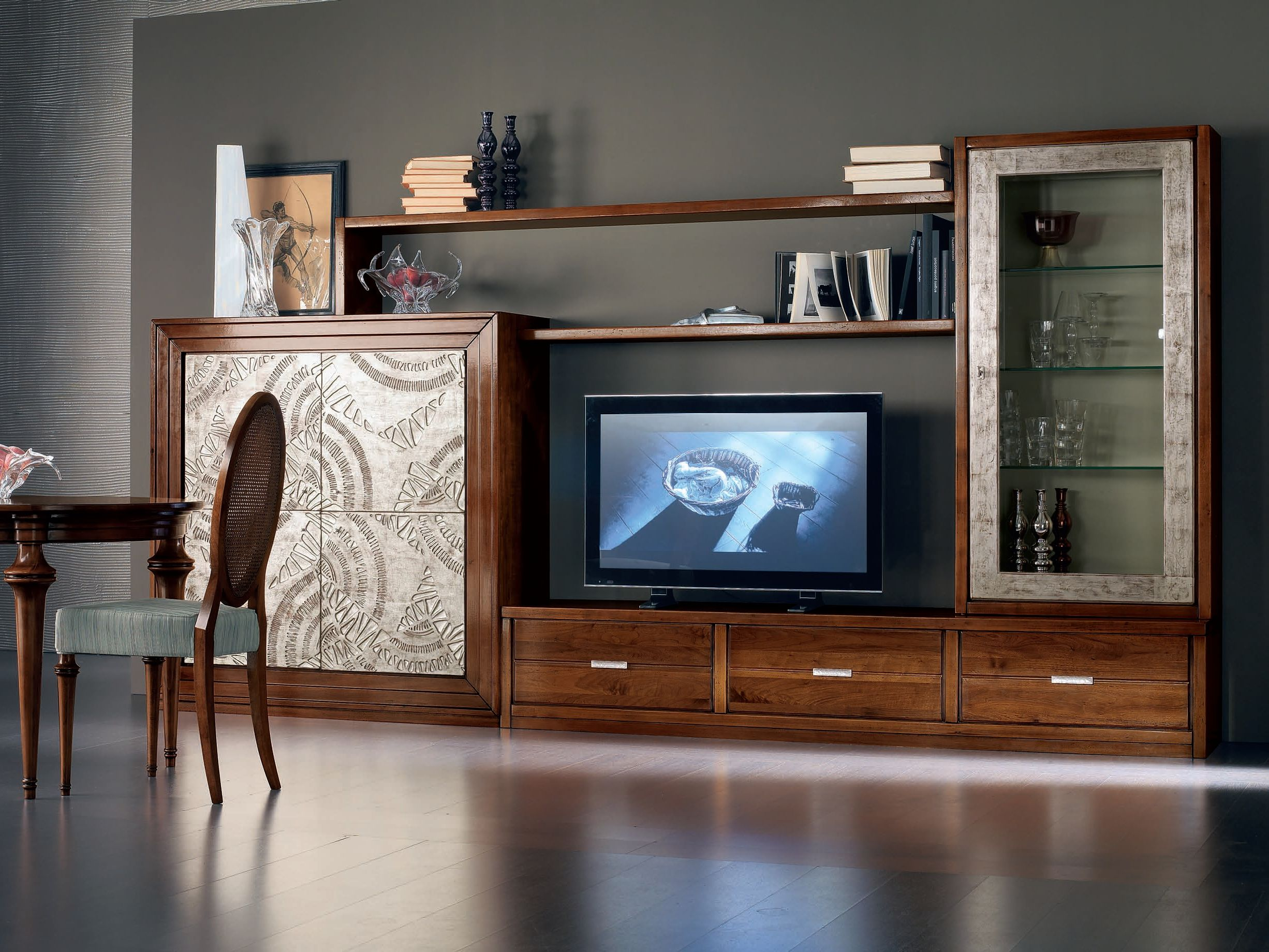 Cantiero mobili ~ Étoile day wooden storage wall by cantiero design arbet design