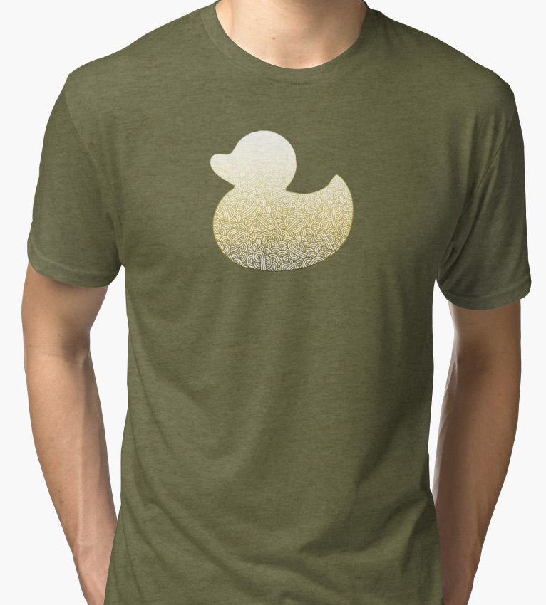 """Gradient yellow and white swirls doodles Duck"" T-Shirts, Tanks & Hoodies by @savousepate on @redbubble #duck #pattern #abstract #modern #graphic #geometric #yellow #ombre #gradient #tshirt #teeshirt #apparel #clothing #fashion"