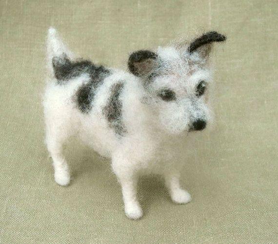 Needle Felted Jack Russell Terrier Miniature Dog Custom Portrait
