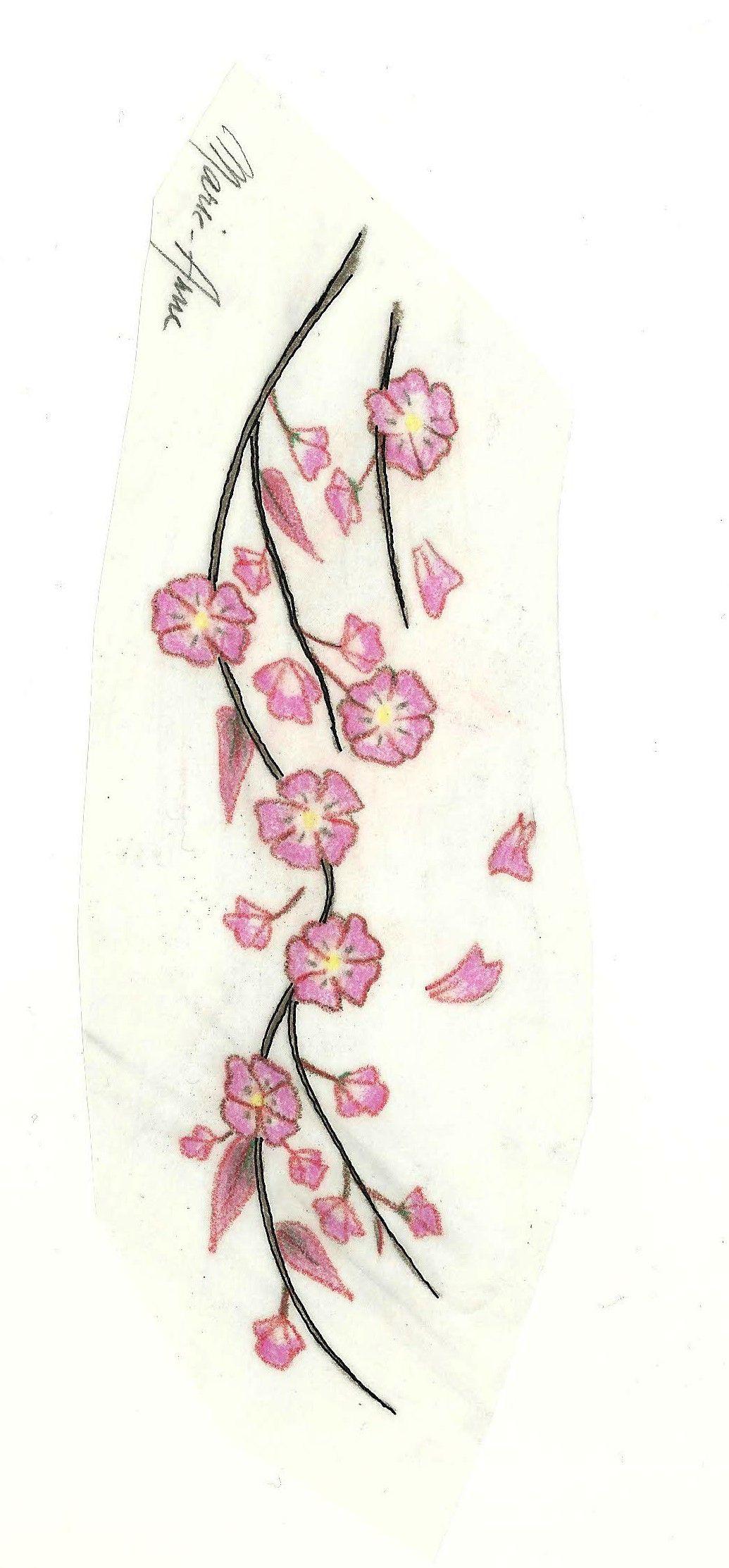 des fleurs de cerisier tatouage. Black Bedroom Furniture Sets. Home Design Ideas
