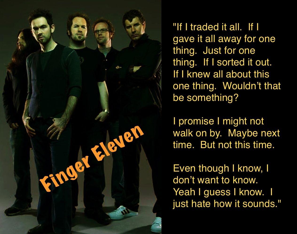 Finger Eleven Music lyrics, Songs, Love songs
